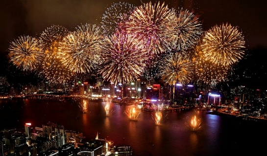 New Year Countdown and Fireworks