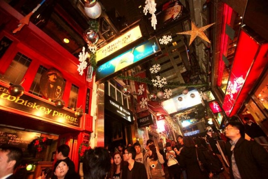 Lan Kwai Fong Christmas and New Year's Eve Street Party