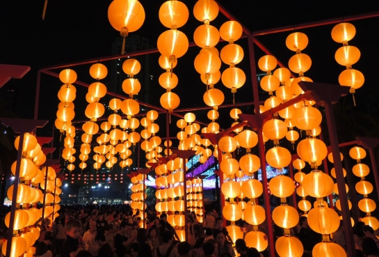 Mid-Autumn Lantern Displays and Carnivals