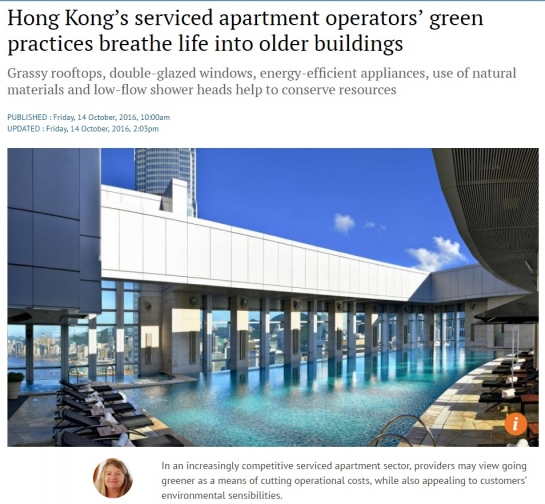 Hong Kong's serviced apartment operators' green practices breathe life into older buildings